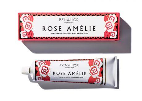 Rose Amelie Creme Leite de Corpo / Milky Body Cream 150ml#BENAMOR-ROSE-AMELIE-BOITETUBE-RVB-1.jpg
