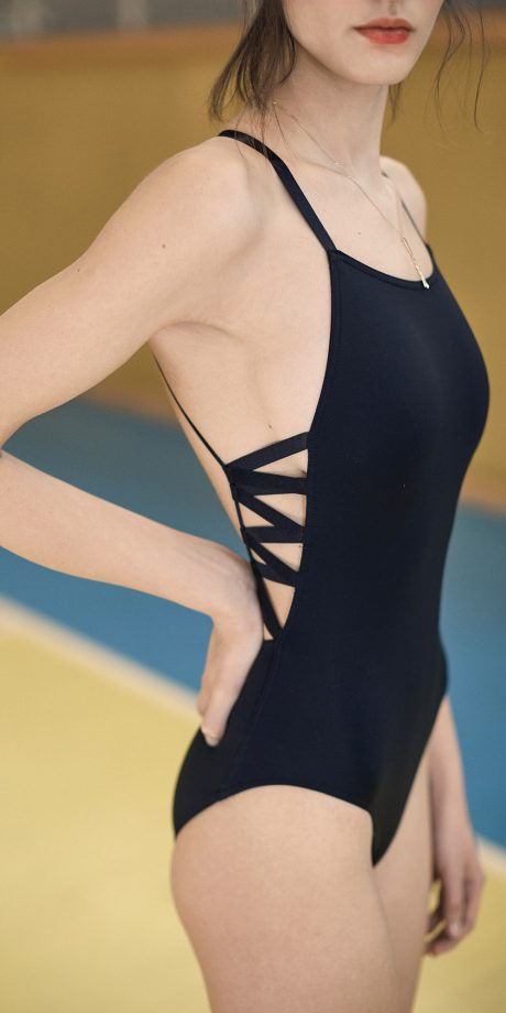Chevron Natural - Black Laced Back Leotard#E4A0458-1.jpg