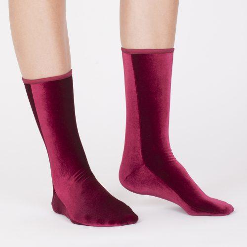 Velvet Socks Wine Red#VELVET-SOCK-S-by-SIMONE-WILD-SET-of-2-pairs-Ankle-Velvet-Sock-s-BLACK-WINE-20180619151912.jpg