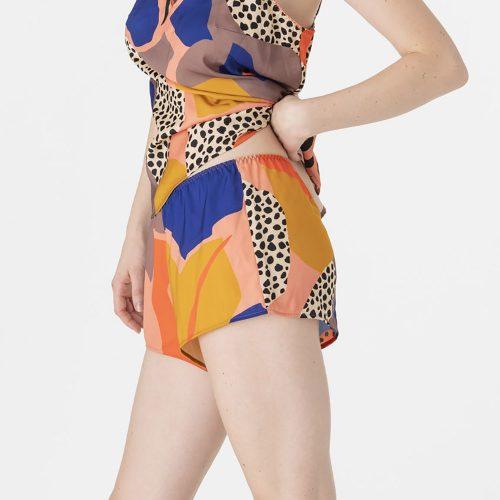 Printed Satin Pyjama Shorts#01W001866B.jpg