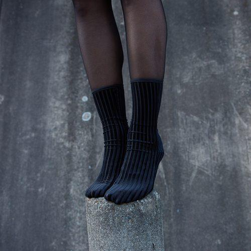 Rib Velvet Ankle Socks#