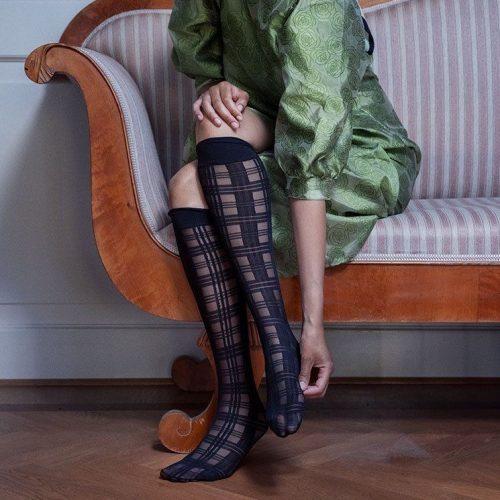 Greta Tartan Knee-highs#