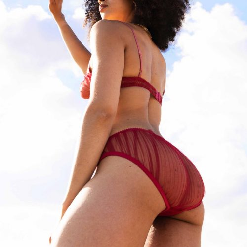 Margaux Red Pleated Knickers#