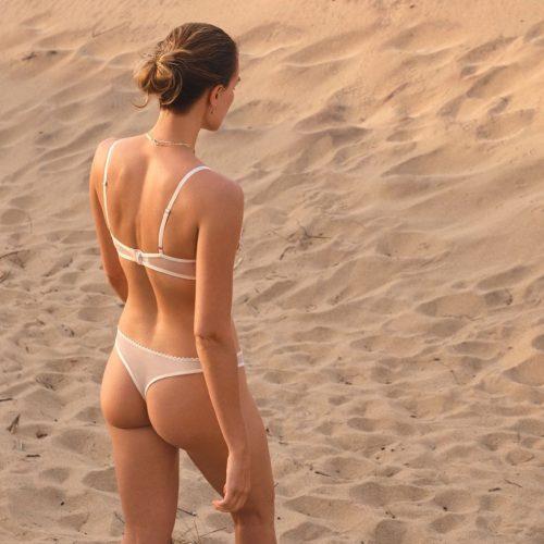 Colette Pink-beige Thong#
