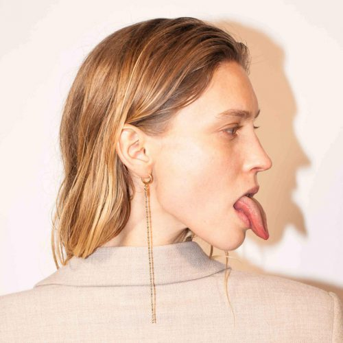 Medium Thin Chain Simple Earring#